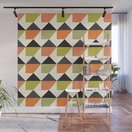 Geometric Pattern 104 (orange pink green Wall Mural