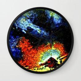 Abstract Scuba Diver Art Wall Clock