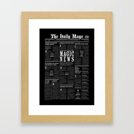 The Daily Mage Fantasy Newspaper II Framed Art Print