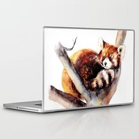 red panda Laptop & iPad Skins featuring Red Panda by Anna Shell