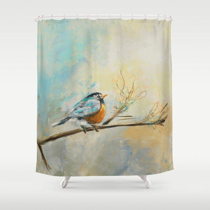 Little Bird 3473 Shower Curtain