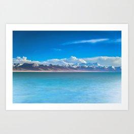 blue landscape #society6 #decor #buyart Art Print