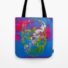 the 4i skull - mixed media on canvas Tote Bag