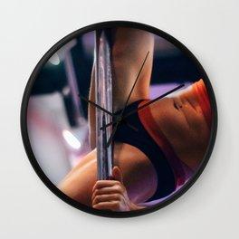 Pole Dancer Climb Wall Clock