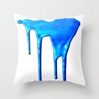 splatter Throw Pillows featuring Splatter by Hints Photos