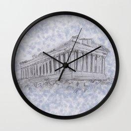 Illustartion of the Parthenon Wall Clock