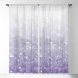 MERMAIDIANS PURPLE GLITTER Sheer Curtain