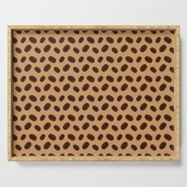 Cool Brown Coffee beans pattern Serving Tray