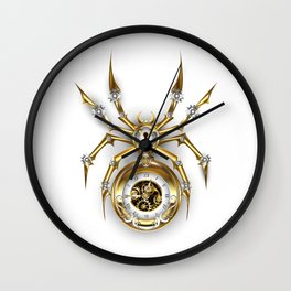 Spider with Clock ( Steampunk ) Wall Clock