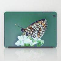 sofa iPad Cases featuring flower sofa by LindaMarieAnson