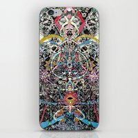 majoras mask iPhone & iPod Skins featuring Mask by Nicole Linde