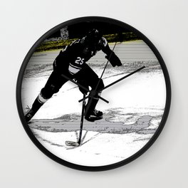 On the Move - Hockey Player Wall Clock