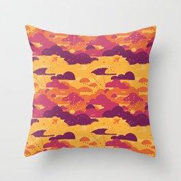 Jet Set Sunset Throw Pillow