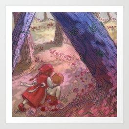 Autumn in the woods Art Print