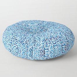 Watercolor Blue Trance Floor Pillow