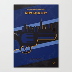 No762 My New Jack City minimal movie poster Canvas Print