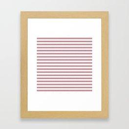 Dark Red Pear Mattress Ticking Wide Striped Pattern - Fall Fashion 2018 Framed Art Print