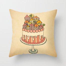 Cake Town Throw Pillow