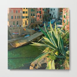 Italy. Cinque Terre - Canal side Close Up Metal Print