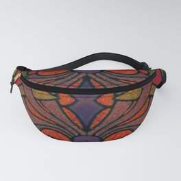 Art Nouveau Glowing Stained Glass Window Design Fanny Pack