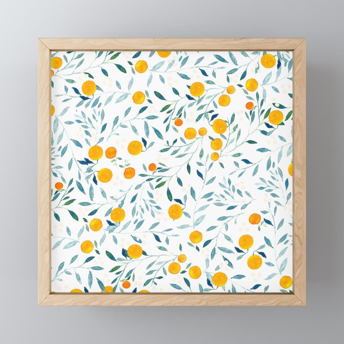 Orange Tree Framed Mini Art Print