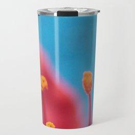 Flower stamens red blue Travel Mug