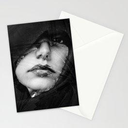 face visage Stationery Cards