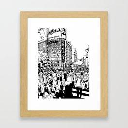 Shibuya Crossing, Tokyo Framed Art Print