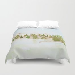 Pines and mountains Duvet Cover