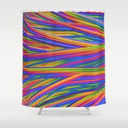 Feathery Rainbow Shower Curtain