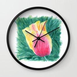 Tropical Tulip by Teresa Thompson Wall Clock
