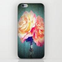 vintage flowers iPhone & iPod Skins featuring Vintage Flowers by 2sweet4words Designs