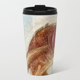 Goldfish floating in the water Travel Mug