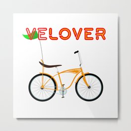 VeLover – Chopper – June 12th – 200th Birthday of the Bicycle Metal Print