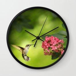 Hummer in Flight Wall Clock