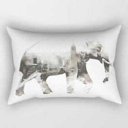 Double exposure elephant Rectangular Pillow