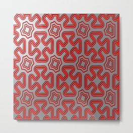 Christmas wrap pattern Metal Print