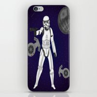storm trooper iPhone & iPod Skins featuring storm trooper by Agentsassy