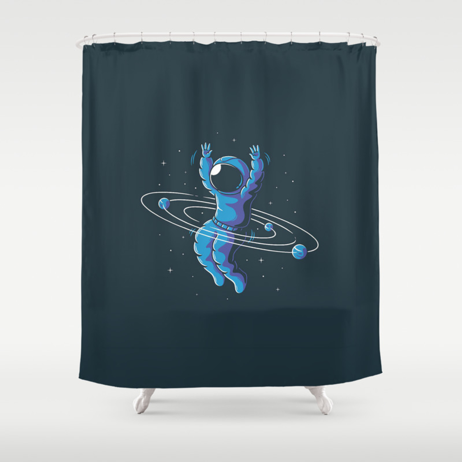 Space Hula Hoop Shower Curtain By Eugene30 Society6