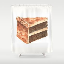 Chocolate Cake Slice Shower Curtain