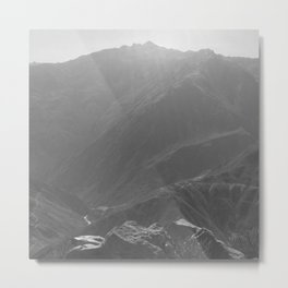 Top of the Rockies B&W Metal Print