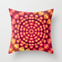 hippie Throw Pillows featuring Hippie Star by NatalieCatLee
