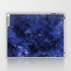 Bright Blue Imprinted Metal Look Laptop & iPad Skin