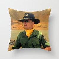 apocalypse now Throw Pillows featuring Robert Duvall @ Apocalypse Now by Gabriel T Toro