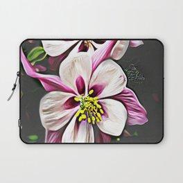 Floral Embosses: Double Columbine 01-01 Laptop Sleeve