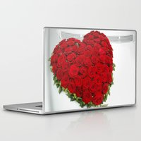 mercedes Laptop & iPad Skins featuring Heart of red roses by Premium