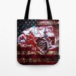 Patriotic American Barn Tote Bag