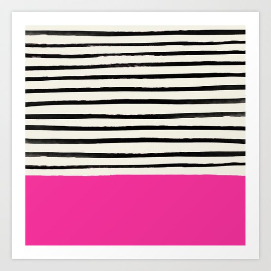 Bright Rose Pink x Stripes by floresimagespdx