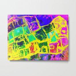 Abstract Village Metal Print