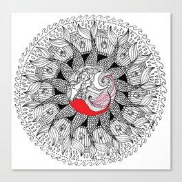 mermaid mandala Canvas Print